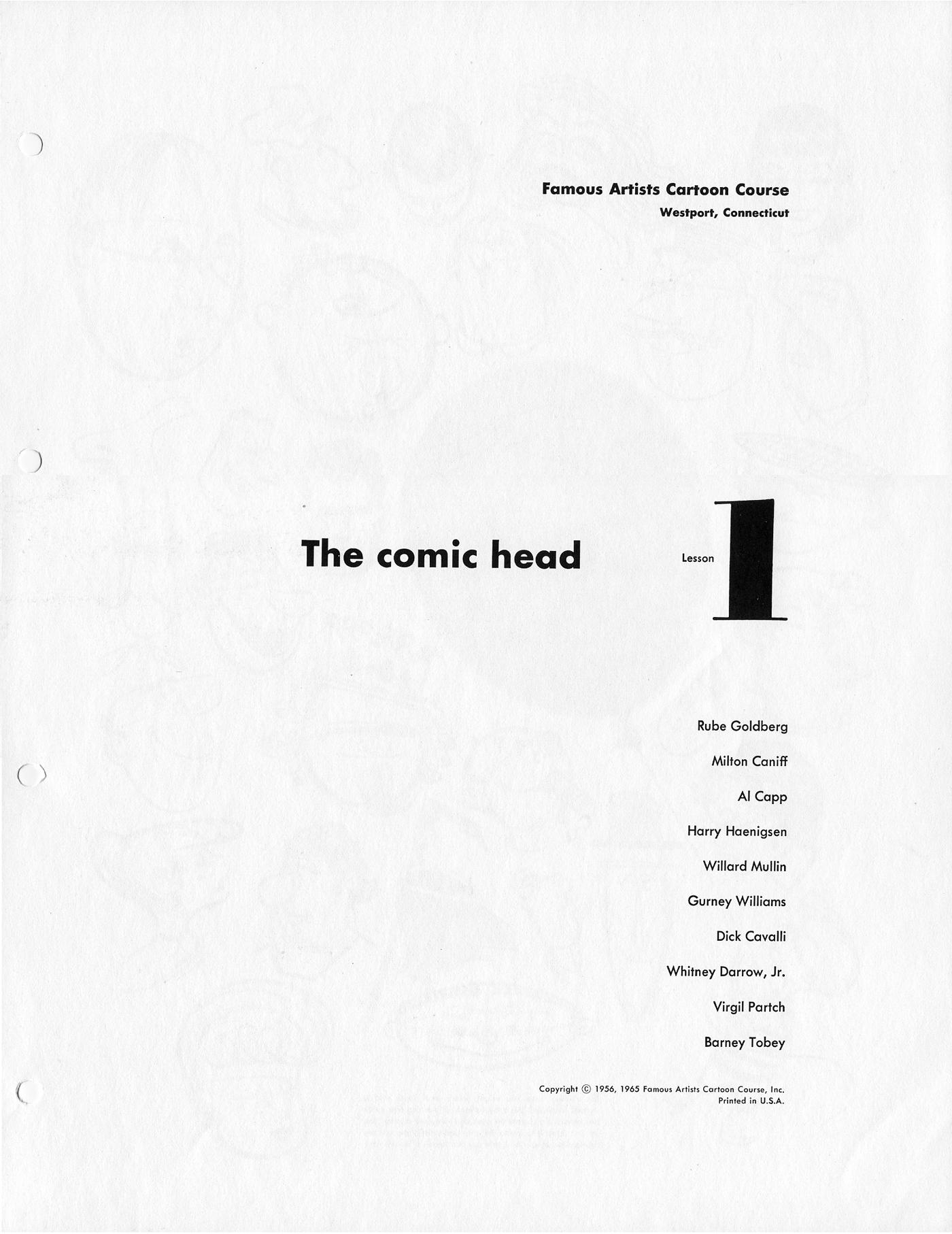 Ch1: The Comic Head (FACC)