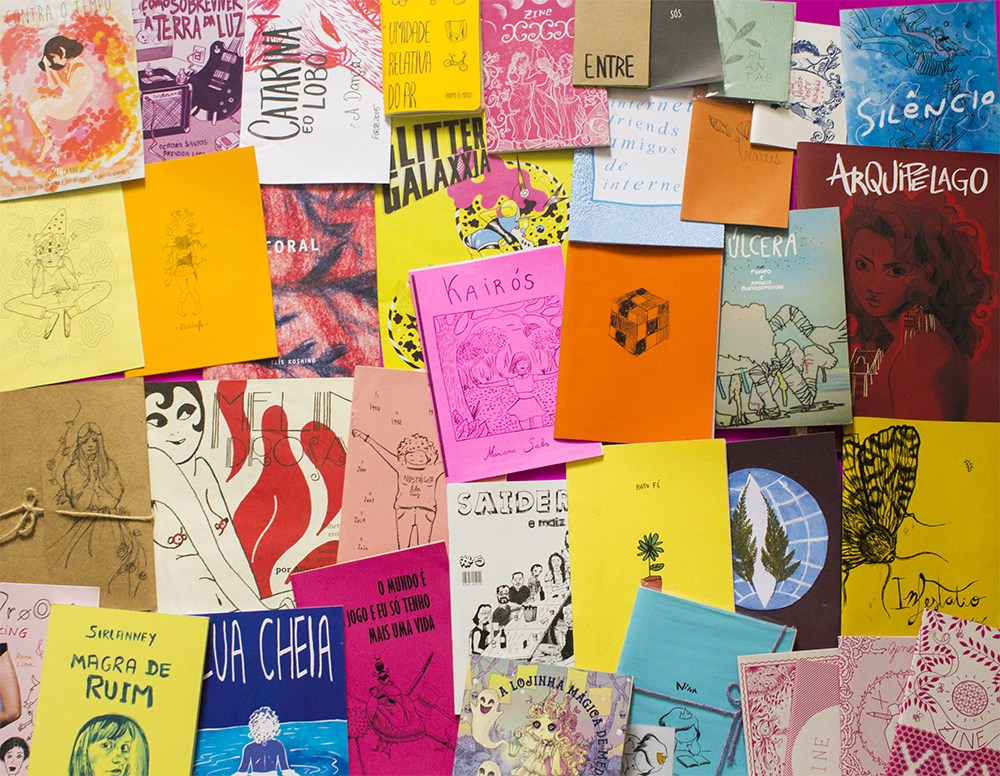 A collection of zines made by Brazilian women artists - credit: Brendda Lima