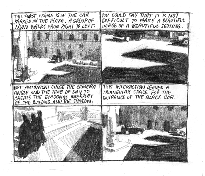 Drawing Antonioni - L'avventura - Page 1