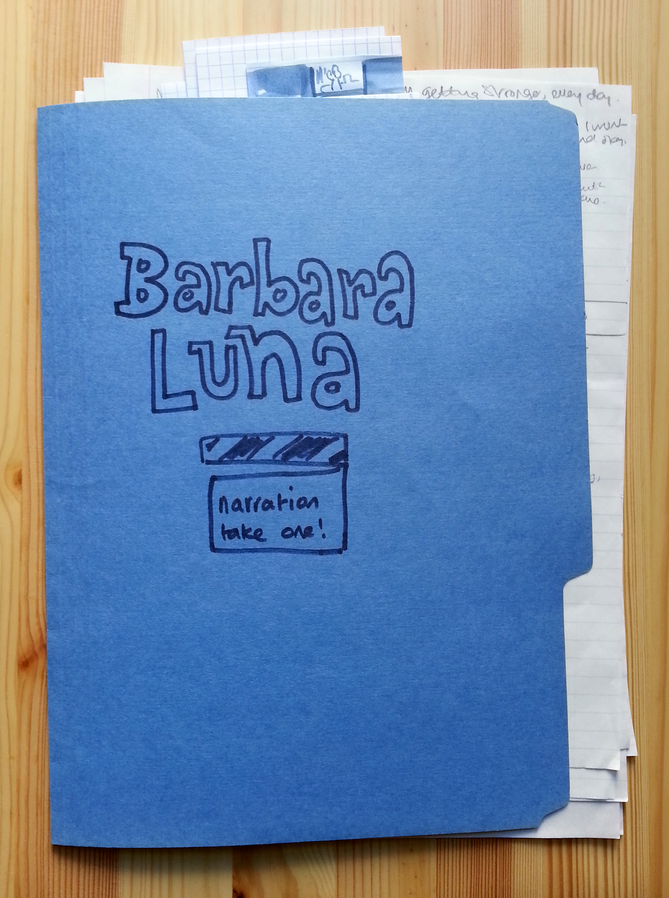 BARBARA LUNA Storyboards And Visual Notes By Sacha Mardou