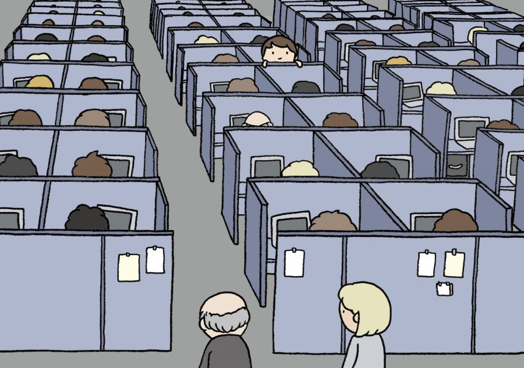 The-Society-of-the-Spectacle_Work-cubicles_Lauren-Purje